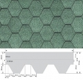 Гибкая черепица RUFLEX коллекция Super KL зеленая